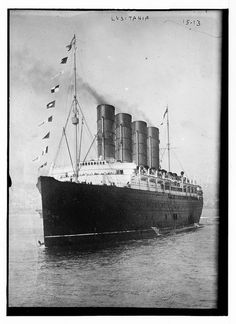 RMS Lusitania: On May 1, 1915, this ship sunk due to a German U-boat firing a torpedo at it. I was sailing from New York to Liverpool. It held thousands of people.