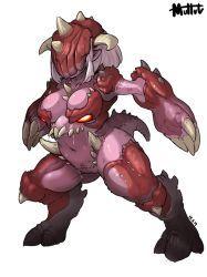 Possessed Engineer by MuHut on DeviantArt Female Character Design, Character Design Inspiration, Character Art, Female Monster, Monster Art, Thicc Anime, Anime Art, Chica Alien, Doom Demons
