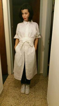 Judostar white boyfriand dress frome onchiq studio WWW.ONCHIQ.COM