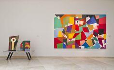 Vista de sala: obras de Cristina Schiavi + Gachi Jasper