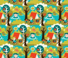 Resultado de imagen para dreaming of summer by bora - customized wallpaper patterns with spoonflower