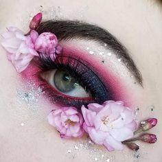 Flower Makeup, Fairy Makeup, Mermaid Makeup, Fairy Fantasy Makeup, Fantasy Hair, Aesthetic Eyes, Aesthetic Makeup, Gandalf, Exotic Makeup