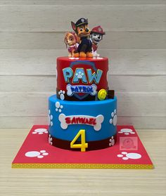Pretty Birthday Cakes, Cute Birthday Cakes, Birthday Party Tables, Boy Birthday Parties, Paw Patrol Birthday Decorations, Paw Patrol Birthday Theme, Paw Patrol Party, Torta Paw Patrol, Happy Paw