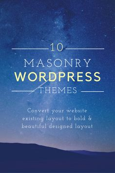 These 10 Wonderful Masonry WordPress themes is a the list of best Masonry…