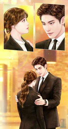 [My Secret Romance] Korean Drama Cute Couple Art, Anime Love Couple, I Love Anime, Cute Couples, Cute Love Stories, Love Story, Cover Wattpad, Cute Anime Coupes, Cute Love Pictures