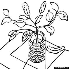 100 free coloring page of Vincent van Gogh painting  Sunflowers