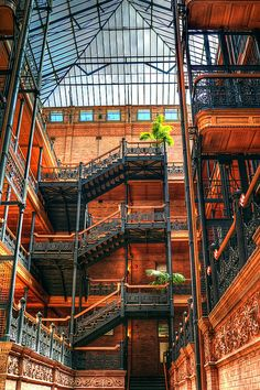 Bradbury Building- beautiful architecture, which I know you like. It has been featured in 500 Days of Summer and a lot of other movies.