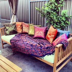 My Indian/morrocan inspired outdoor daybed