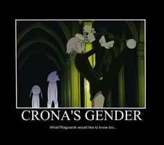 Yeah Crona's gender is a big question… Soul Eater