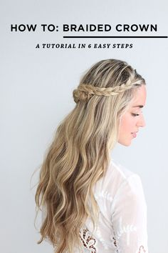 Easy Braided Crown Tutorial via @glitterguide