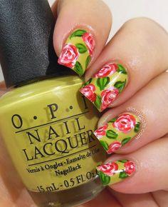 Strawberry Rose Nail Art - Did My Nails