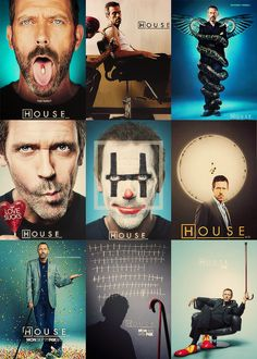 House MD poster from each season. Gregory House, Chicago Fire, House And Wilson, Rock Roll, Geeks, Criminal Minds, Mejores Series Tv, Everybody Lies, Favorite Tv Shows