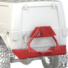 Metalcloak JK Frame Built Full-Width Rear Bumper w/ Tire Carrier Jeep Wrangler Bumpers, Jeep Bumpers, Jeep Wrangler Rubicon, Jeep Wrangler Unlimited, Jeep Jk, Jeep Truck, 4x4 Trucks, Wrangler Accessories, Jeep Accessories