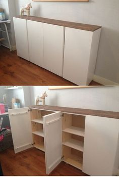 ivar cabinets with pastel fronts ikea ivar pinterest inspiration. Black Bedroom Furniture Sets. Home Design Ideas