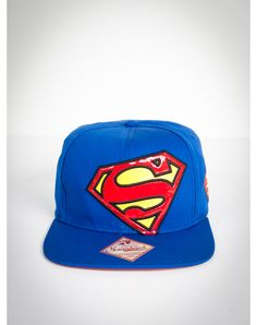 Superman Vinyl Logo Snapback Hat