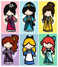 asian Disney princess's, like that they added meg and alice (even tho she's not a princess, she's still cool)