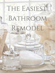 Home Guide Easy Bathroom Remodel Via Pretty Accessories