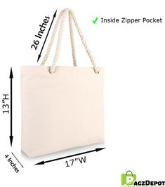 Wholesale Canvas Beach Tote Bags with Rope Handles Canvas Tote Bags Wholesale, Wholesale Bags, Personalized Tote Bags, Beach Tote Bags, Reusable Bags, Metal Buttons, Gift Bags, Canvas Fabric