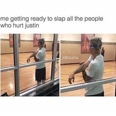 Hahaha yes that's me I have actually slapped many of my friends some of them just broke the friendship and some of them now respect him at least in front of me bcoz they know it hurts me and the ones who left they were never my real friends I Still Love Him, Big Love, First Love, Justin Bieber Meme, I Love Justin Bieber, It Hurts Me, Real Friends, To My Future Husband, Best Memes