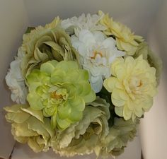 Bridal Bouquet Vintage Flower Bouquet Wedding by kathyjohnson3