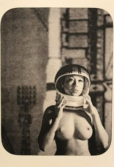 Lunar Woman: 1960's space-age inspired portraits by Madison Krieger - purple SEX