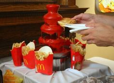 """Saw this on facebook and had to """"pin"""" it. THIS is what every wedding reception and graduation open-house needs!"""