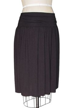 Gathered Jersey Knit Skirt. Wish i had one of these. They'd be great for almost anything.
