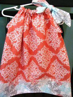 Pillowcase dress Michael Miller Sorbet by alisplace1 on Etsy, $22.00