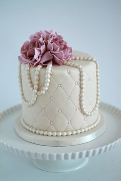 We work with each bride and groom to create a custom wedding cake that is personalized and special. Scratch baked to order for your unique gourmet experience. Vintage Birthday Cakes, Birthday Cake Roses, 90th Birthday Cakes, Elegant Birthday Cakes, Beautiful Birthday Cakes, Birthday Cakes For Women, Beautiful Cakes, Makeup Birthday Cakes, Birthday Cake For Mom