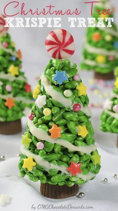 Christmas Tree Rice Krispie Treats   19 Amazingly Cute Ideas For Christmas Treats That You Can Actually Make