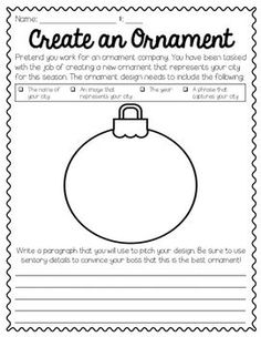holiday activities This FREEBE is a great writing activity to engage your students during the holiday season. Use as a center or whole group activity to help students practice descriptive and persuasive writing. Persuasive Writing, Teaching Writing, Writing Activities, Writing Skills, Teaching Resources, Essay Writing, Writing Ideas, Classroom Fun, Classroom Activities