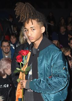 Jaden Smith spotted wearing Alpha Industries MA-1 Flight Jacket at Hood by Air NYFW Show.