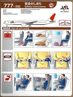 JAL B 777-300 Safety Card
