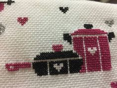Cute Cross Stitch, Cross Stitch Alphabet, Cross Stitch Patterns, Purple Kitchen Decor, How To Make Headbands, Wool Embroidery, Charts And Graphs, Diy Headband, Diy Doll