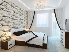 Интерьер таунхауса в стиле минимализм \ Спальня