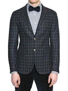 TOMBOLINI - CHECKED CASHMERE & WOOL CLOTH JACKET