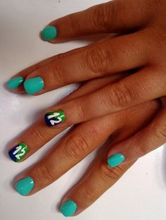 Seahawks #12th Man  Nails by Catia