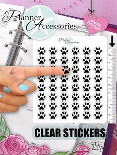 Clear Paw Stickers Vet Stickers Pet Stickers von EmelysPlannerShop
