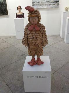 Escultura en madera de Efraïm Rodríguez, en Art Madrid 2014