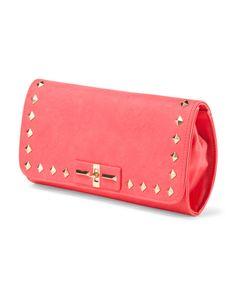 Saucy Pyramid Stud Clutch - Handbags - T.J.Maxx
