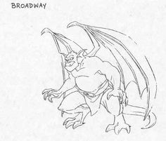 Broadway model sheet Character design by Greg Guler Gargoyles Characters, Gargoyles Cartoon, Disney Gargoyles, Alien Character, Character Drawing, Cool Art Drawings, Disney Drawings, Drawing Ideas, Gargoyle Drawing