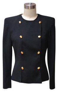 9d7f95e444 Akris Vintage Black Akris Double Breasted Blazer Double Breasted Blazer