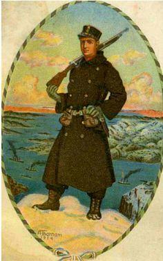 Postkort Arnold Thornam brukt 1916 Utg Mittet