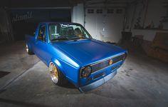 Built To Drive: The Dub Dynasty 1981 VW Caddy – Slam'd Mag Caddy Daddy, Vw Caddy Mk1, Porsche, Audi, Volkswagen Golf Mk1, Trucks, Building, Vehicles, Jeeps