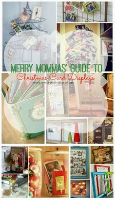 Christmas card display Over 25 ideas from wreaths, to re-purposed items and frames!
