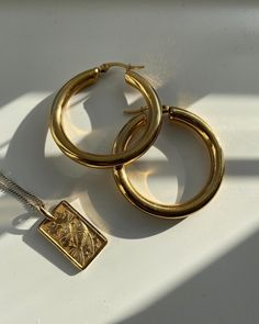"⭐️A Little Law of Fashion 🍓🍉🍒 on Instagram: ""My most worn jewels 💎 hoops every time   #goldjewellery #starsigns #pisces #goldhoops #hoops"" Gold Hoops, Pisces, Gold Jewelry, Jewels, Dress, Instagram, Fashion, Gold Jewellery, Moda"