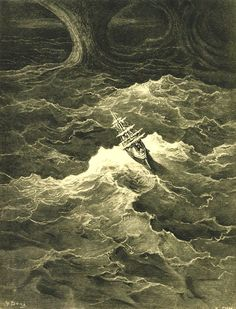 "magictransistor: "" Gustave Doré, The Rime of the Ancient Mariner, 1876. """