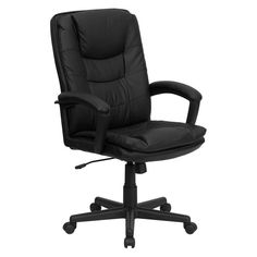 Flash Furniture High Back Executive Swivel Office Chair 41.5-45.25H in. - Black - BT-2921-BK-GG