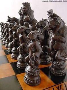 animal themed chess set   http://www.roleplaying.company