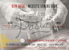 BoccaLupo - Italian-American Cuisine in Inman Park  753 Edgewood Ave Atlanta, GA 30307 404.577.2332 Atlanta Restaurants, Great Restaurants, Inman Park, Dallas, Nyc, Pasta, Dinner, Medium, Check